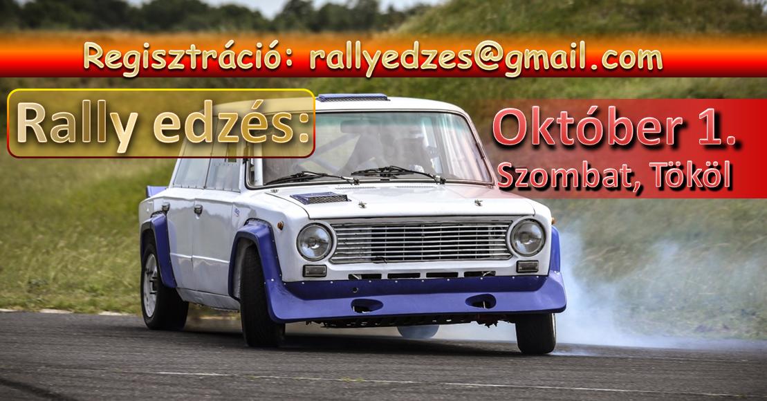Rally edzés 2016.10.01-én Tökölön!